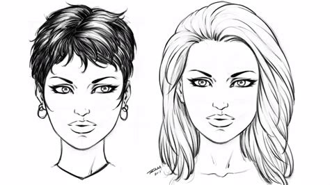 step by step hairstyles to draw how to draw 2 hair styles female step by step youtube