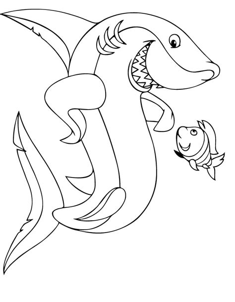 cartoon shark coloring page shark tales coloring pages download and print for free