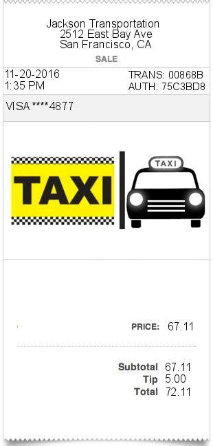 taxi receipt template generator taxi invoice template uk hardhost info