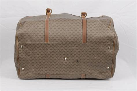 Tas Travel Bag Kanvas Gucci 1 gucci vintage gg monogram canvas weekender travel bag for sale at 1stdibs
