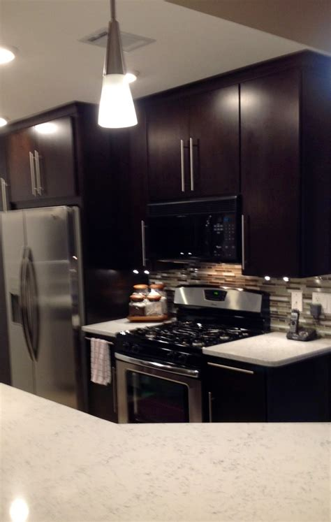 kitchen cabinets maple espresso countertops formica modern kitchen high contrast cabinets countertop