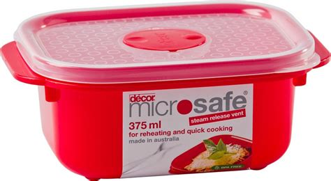 Decor Food Storage Containers by Decor Microsafe Oblong Container 375ml 6 Hisconfe