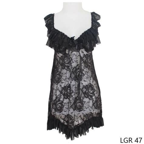 Baju Tidur Transparan baju tidur wanita transparan tile hitam gudang