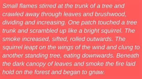 writing tips using figurative language to describe setting
