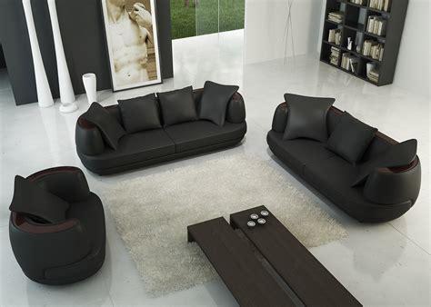 canap駸 3 2 places deco in ensemble canape 3 2 1 places noir en cuir