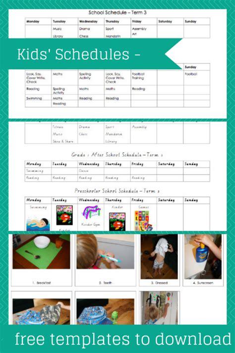 children s routines planning with kids