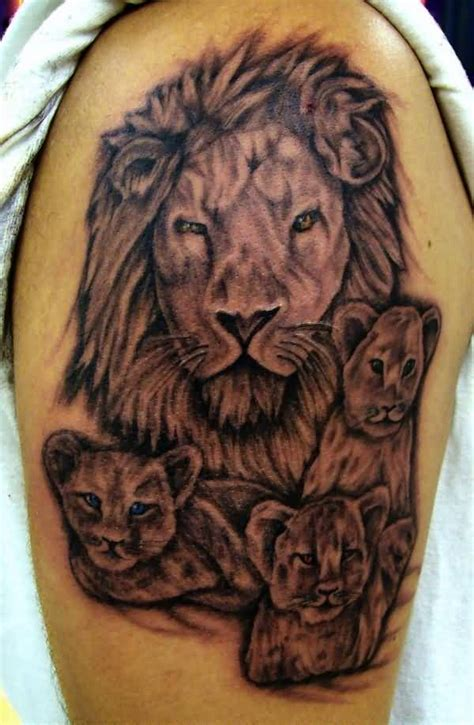lion family tattoo ideas and designs page 32