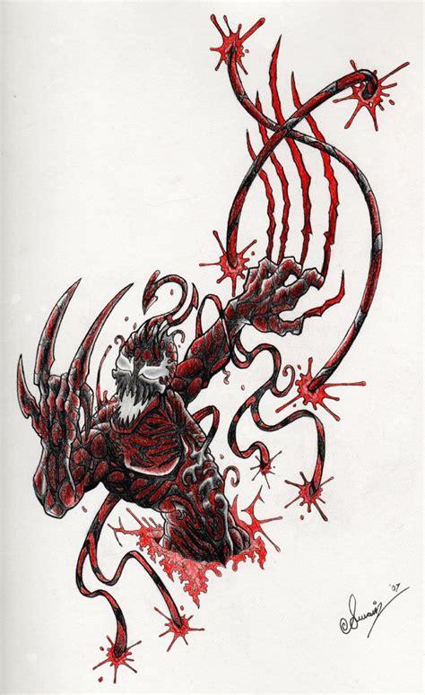 carnage tattoo carnage tatty by curtisswain