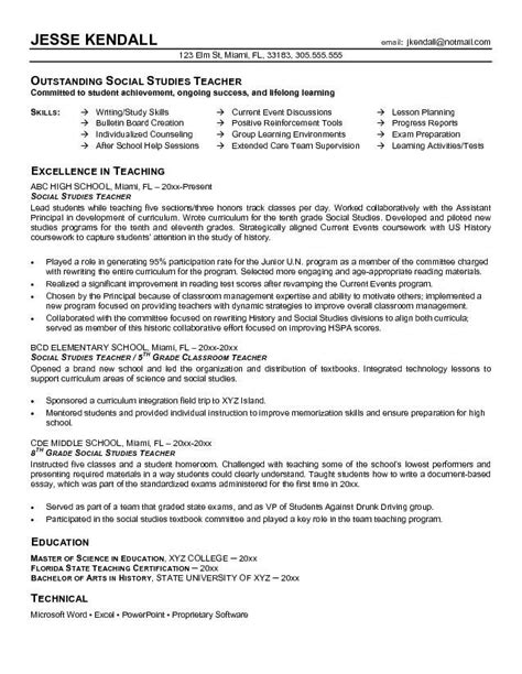Educator Resume Objective Exles Objective For Teaching Resume Best Resume Collection