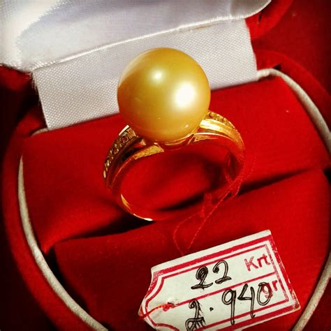 Cincin Handmade - handmade gold ring with south sea pearl cez 49 info