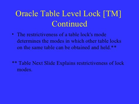 oracle lock table oracle locking