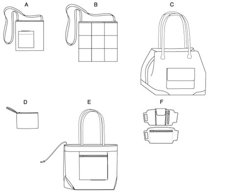 drawing bag pattern butterick 5475 tote bags and wrist wallet