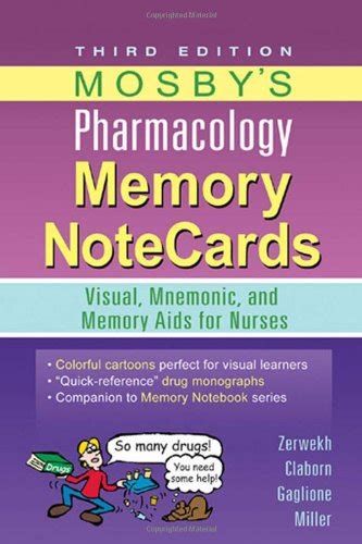 mosby s pharmacology memory notecards visual mnemonic and memory aids for nurses 4e cheapest copy of mosby s pharmacology memory notecards