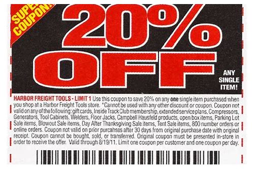 coupon code harbor freight online