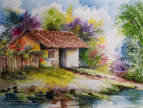 imagenes para pintar en acuarela im 225 genes arte pinturas paisajes en acuarela