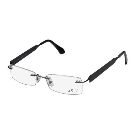 new ogi 613 mens/womens designer rimless gray / black