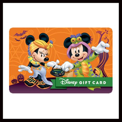 My Disney Gift Card - your wdw store disney collectible gift card a spooky celebration halloween