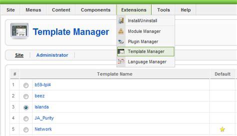 joomla template manager jednoduch 225 inštal 225 cia novej šabl 243 ny joomla