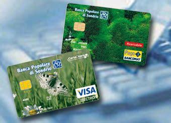 carta prepagata banco popolare servizi on line carte prepagate popolare di sondrio
