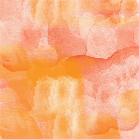 orange painting tuscan rose abstract watercolor painting by linda woods