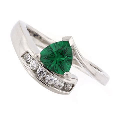 solitaire emerald sterling silver ring silverbestbuy