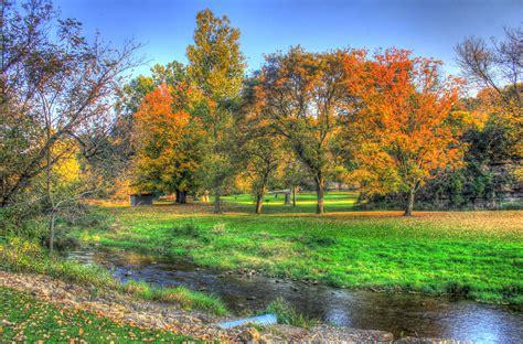 free stock photo of autumn landscape at apple river canyon state park illinois public domain