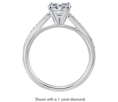 pave engagement rings pav 233 cubic zirconia engagement ring in 14k white gold