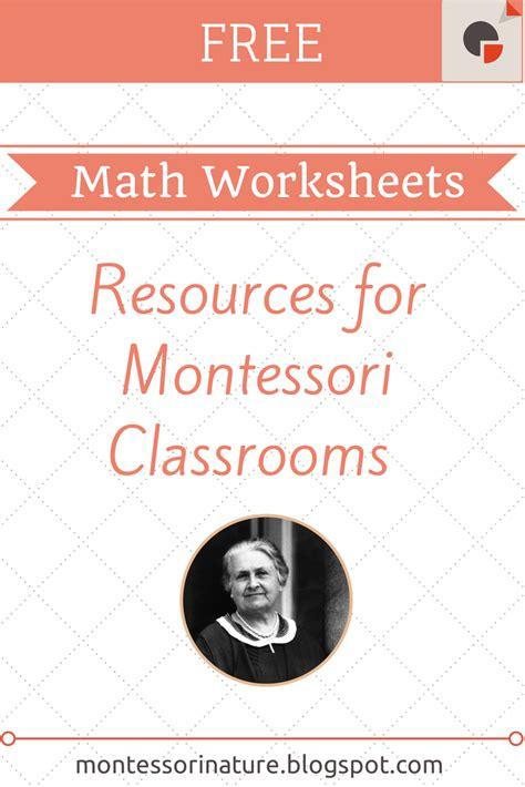 printable montessori math worksheets montessori nature free montessori math worksheets