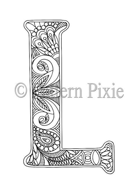 Letter Y Coloring Pages For Adults by Colouring Page Alphabet Letter Quot L Quot Dibujos