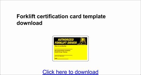 Forklift Certification Cards Free Printable Forklift Certification Cards Perfect Scrum Master Forklift Certification Card Template Xls