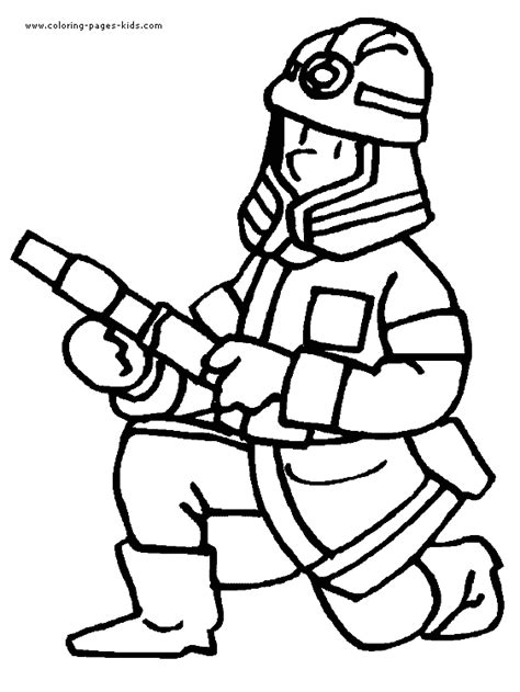 free coloring pages jobs fireman color page coloring pages for kids family