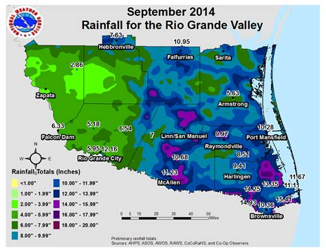 texas rainfall map 2014 monthly average temperature and total rainfall charts for the grande valley for