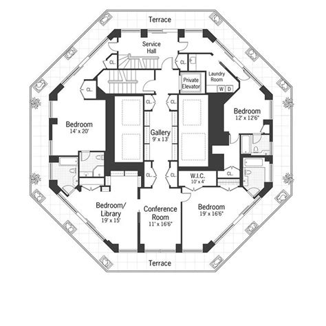 Octagon House Floor Plans by City Spire Penthouse New York City