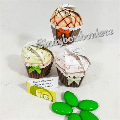 scatoline porta confetti scatoline portaconfetti per compleanno cupcake con