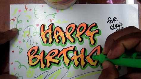 imagenes de feliz cumpleaños en graffiti feliz cumplea 241 os letras graffiti imagui