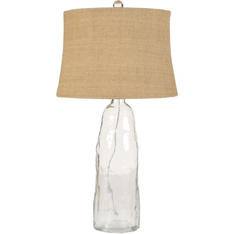table l with clear glass shade artistic weavers marinette 33 in clear glass table l