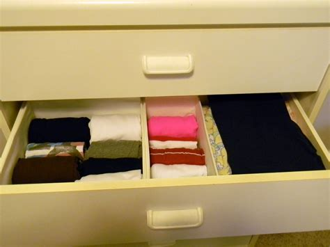 Organize Dresser Drawers by Using Storage Boxes To Organize The Dresser Drawers