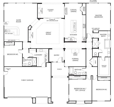 pardee homes floor plans olive hill plan 3a san diego pardee homes pinterest