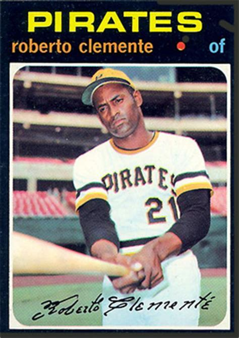1971 topps roberto clemente #630 baseball card value price