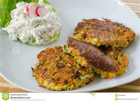 Cottage Cheese Patties by Vegetable Patties With Cottage Cheese And Radish Salad
