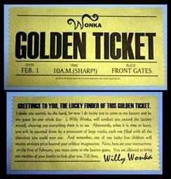 Willy Wonka Golden Ticket Template willy wonka golden ticket template