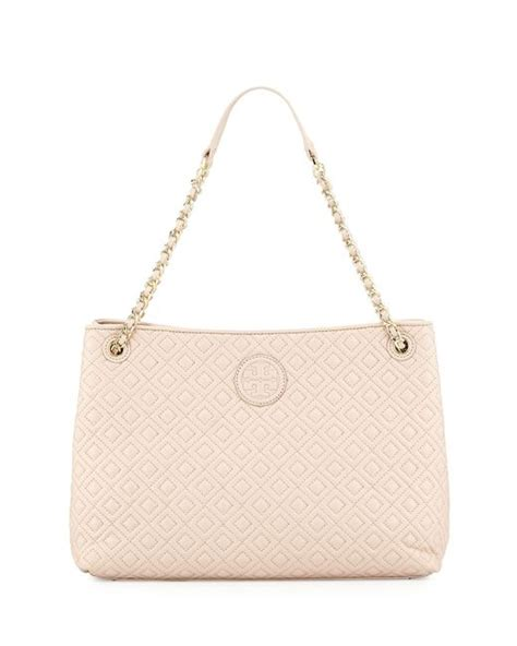 Burch Marion Quilted Shoulder Bag by Burch Marion Quilted Slouch Shoulder Bag In Beige