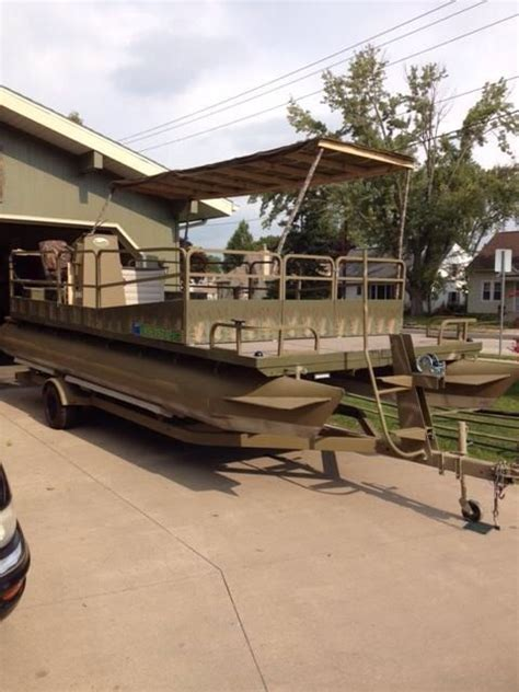 mini pontoon duck boat duck hunting pontoon boat duck boats pinterest