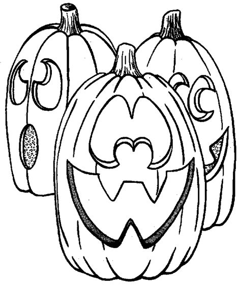 simple jack o lantern coloring home
