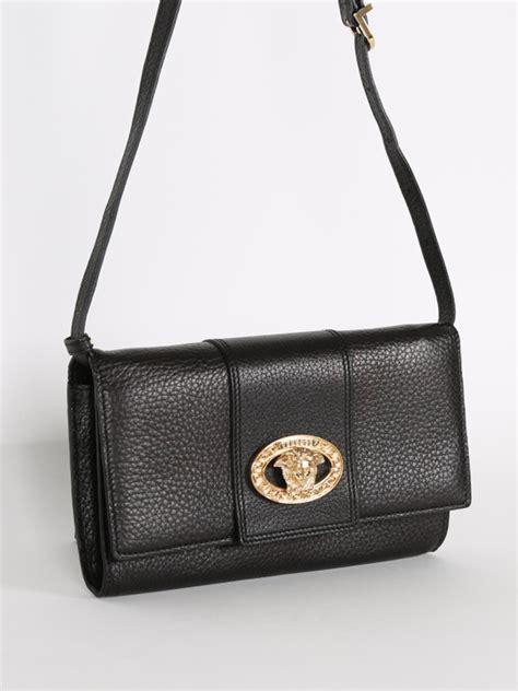 Versace Clutch versace medusa black leather clutch luxury bags