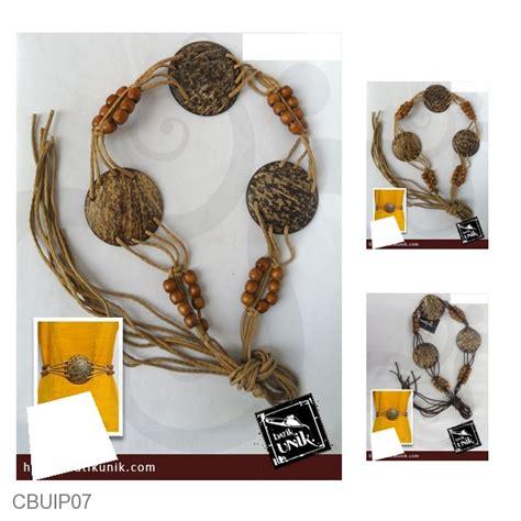 Saleee Baju Atasan Monte Emon ikat pinggang tali batok monte kayu sabuk etnik murah batikunik