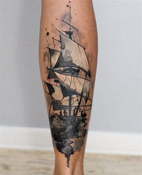 sailing ship tattoos designs 100 boat designs calf tattoos designs and