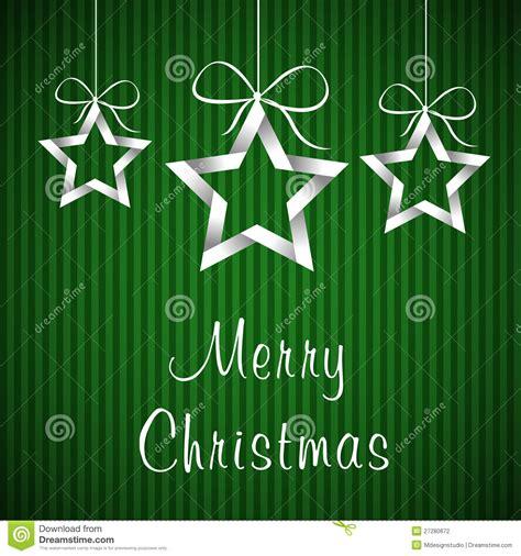 green christmas card  stock illustration image  cream