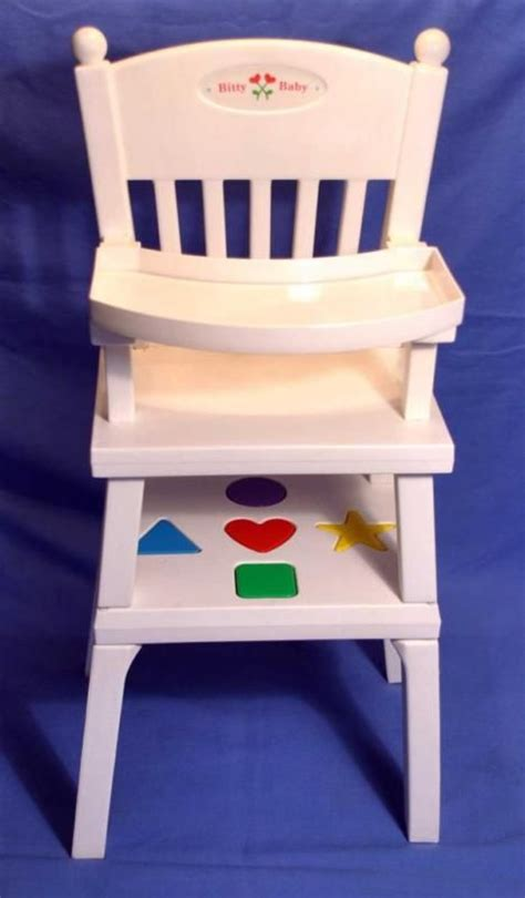 american baby high chair american bitty baby infant doll high chair complete