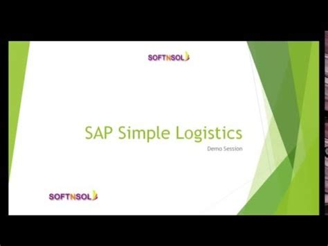 sap logistics tutorial for beginners sap s 4hana implementation journey doovi